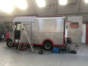 Foodtruck in a hangar