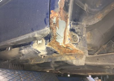 Saab 9-5 rust damage