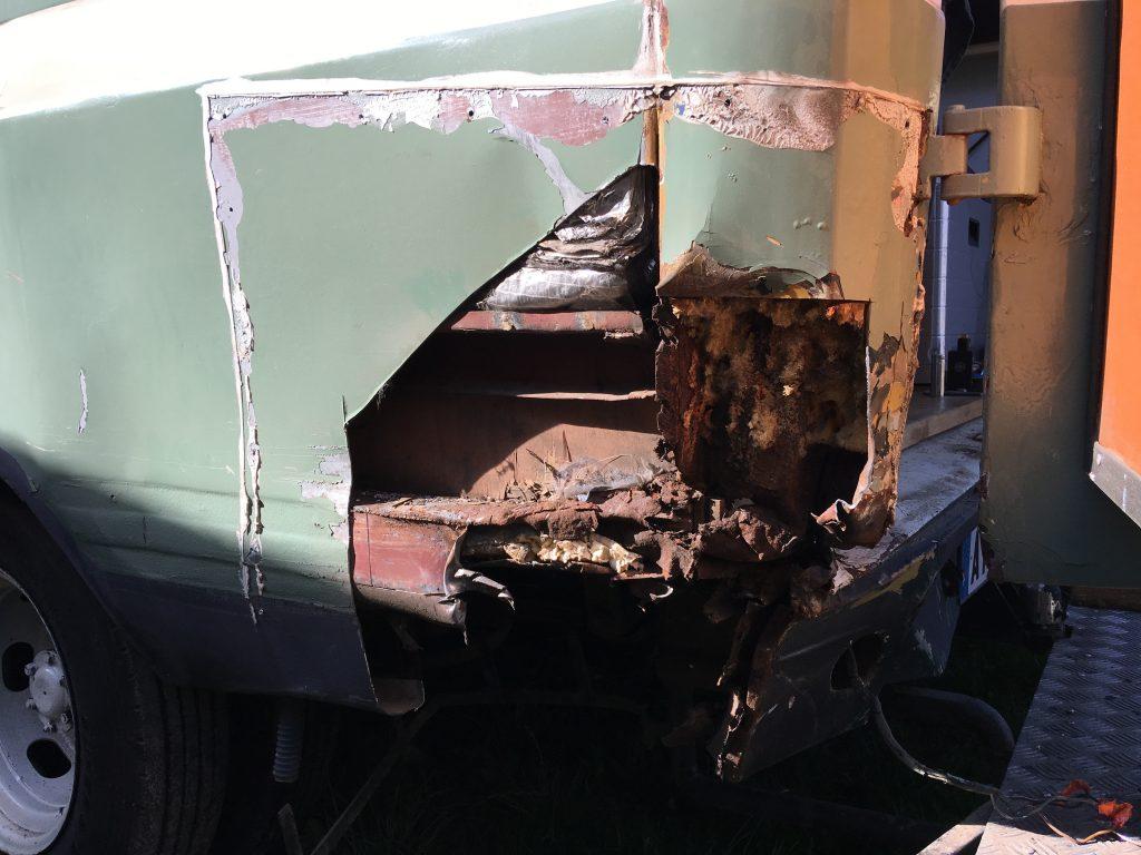 rear panel cut open