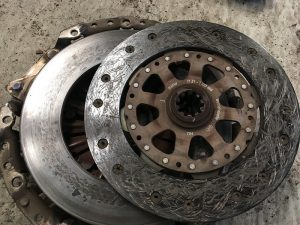 clutch friction plate and flywheel