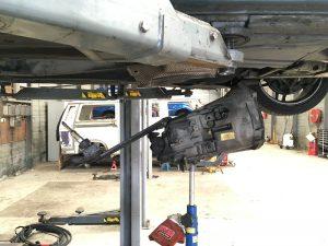 BMW gearbox under the vehicle